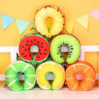 Fruit U-shaped Pillow Travel Cotton Nanoparticles Cushion Neck Car Office Pillow