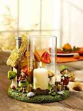 Windlicht mit Wichtelhaus-Idylle aus Kunststein  Detailverliebt Teelichthalter