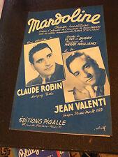 Partition Mandoline Claude Robin Jean Valneti 1949