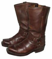 """"""" BUFFALO """" Western- Stiefel / Lederstiefel / Biker- Boots in braun ca. 42,5"""