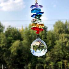 30MM Rainbow Crystal Ball Suncatcher Window Hanging Pendant Lamp DIY Home Decor