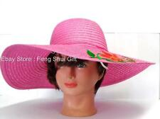 Fashion Kentucky Derby Hat Summer Sun Floppy Wide Brim Casual Beach ladies Cap