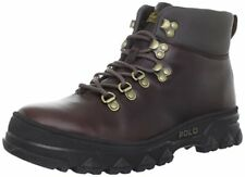 Polo Ralph Lauren HAINSWORTH Mens DARK BROWN LEATHER HI TOP BOOTS size 9 NEW
