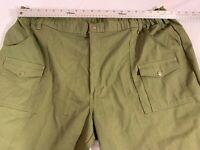 OFFICIAL BOY SCOUTS OF AMERICA GREEN ZIPPER FLY STRETCH WAIST UN-HEMMED PANTS