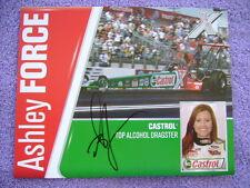 Ashley Force Autograph picture 8x10 paper Castrol Dragster Unisex GreenRedWhite