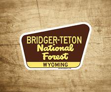 "Bridger Teton National Forest Decal Sticker 3.75"" x 2.5"" Wyoming Park Vinyl"