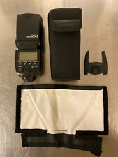 Canon Speedlite 580EX II Shoe Mount Flash for Canon,case, and rogue flash bender
