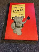 The Story of Babar the little elephant by Jean de Brunhoff 1960 HB Book