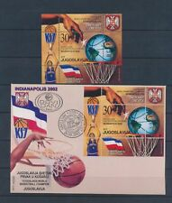 XC45957 Yugoslavia 2002 sports basketball FDC used