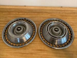 "1964 Chevy Impala 14"" hubcaps Oem Gm Set Of 2 Nice Used Original Hub Caps 64"
