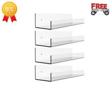 """Transparent Floating Wall Shelves, 15 """"Invisible Wall Mounted Bookshelf (4 pcs )"""