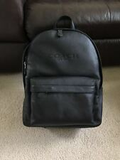 NWT Coach Men's Charles Backpack in Sport Calf Leather F54786 Black