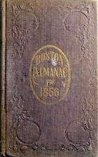 1856 Boston Massachusetts Almanac & City Directory w/ City Map