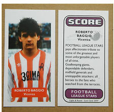 Italie-Vicenza-Roberto Baggio Score UK Football Trade Card