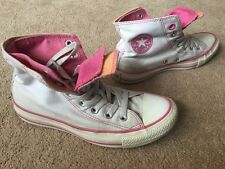 Converse All Star Hi Tops Pumps Trainers Boots Canvas Uk Size 4 Double Tongue