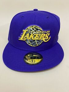 NEW! Los Angeles Lakers 59Fifty New Era NBA ~ Size 7 1/2 Fitted Hat / Cap Purple