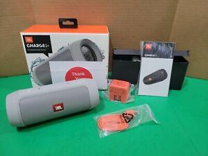 JBL Charge 2+ Splashproof Bluetooth Speaker (Gray)