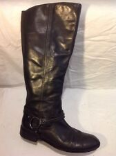 Autograph Black Knee High Leather Boots Size 7