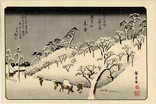 UW»Estampe japonaise réédition - Hiroshige - 16