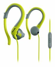 Philips Sports Hooks Microphone Headphone Gray Green (SHQ1255TLF/27)