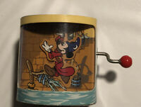 Rare Walt Disney's Fantasia Sorcerer Mickey Tokyo Disneyland Wind Up Music Box