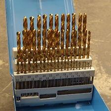 PRESTO 50 PIECE 1MM - 5.9MM (0.1MM INCREMENTS) HSS -TIN TITANIUM DRILL BIT SET