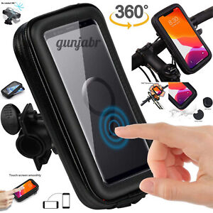 Bicycle Motor Bike 360° Waterproof Case Cover Mount Holder For All Mobile Phones