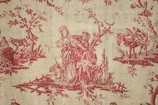Antique French toile de Nantes The Cherished Sheep Petitpierre et Cie 1785
