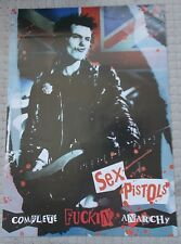 Sex Pistols Poster Complete F'Ing Anarchy Original Live Wire 1980's Sid Vicious