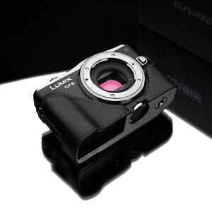 GARIZ Genuine Leather Case Panasonic GF6 Black XS-CHGF6BKB