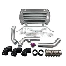 25x12x4 FM Intercooler + BOV Kit For Mazda RX7 RX-7 FD Single or Stock Turbo