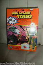 Mib 1970s vintage Airfix Action Stars army Medic action figure toy Rare New