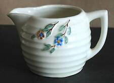 Vintage Bee Hive Shaped Pitcher with Blossoms Trim Honey Cream Creamer Free Sh