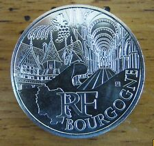 "PIECE 10 EUROS DES REGIONS  2011 MONUMENTS, ""BOURGOGNE"", ETAT NEUF"