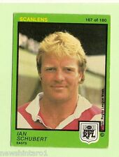 1982  EASTERN SUBURBS ROOSTERS  SCANLENS RUGBY LEAGUE CARD #167  IAN SCHUBERT