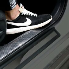 Car Sticker 3CM*1M Carbon Fiber Rubber DIY Door Sill Protector Edge Guard Strip
