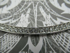 Large Curved Bar Crystal & Silver Connector Curved Necklace Pendant 2 Loop Qty 1