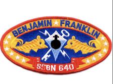"5.5"" USS NAVY SSBN-640 BEN FRANKLIN EMBROIDERED PATCH"