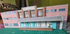 OO Gauge 4mm/ft low relief card model of an industrial unit with platform