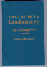 Vital Records of Londonderry New Hampshire 1719-1910 Genealogy