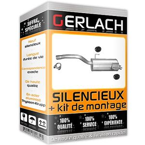 Pour Citroen C8 / Peugeot 807 2.2i 16V 2002-2006 silencieux arriere 2441