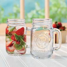 Rustic Bridal Glasses Lot of 12  Mason Drinking Jars with Handle 16 oz