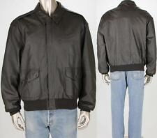 Airborne Flight Military Air Force Bomber Aviation Brown A2 G1 Leather Jacket L