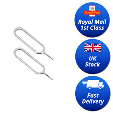 SIM CARD EJECT EJECTOR PIN REMOVAL OPEN TOOL KEY APPLE IPHONE IPAD SAMSUNG 2pcs