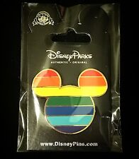 NEW Mickey Mouse Ear Rainbow Head Icon Gay Pride Walt Disney Pin WDW DLR 42975