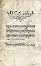 Patricius: rituum ecclesiasticorum... con sezioni in legno, Venezia, 1516.
