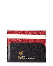 Bally Mens  Nalby Leather Card Holder, Black