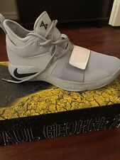 Nike Men,s PG 2.5 TB Basketball Shoes SZ 12-Wolf Grey Black White-BQ8454 002-