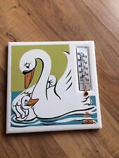 Vintage Walt Disney Ugly Duckling Thermometer Plaque