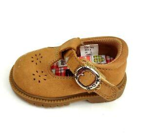 Smartfit Toddler Girls Mary Jane Tan Dress Shoe Size US 1 Skid Resistant Used